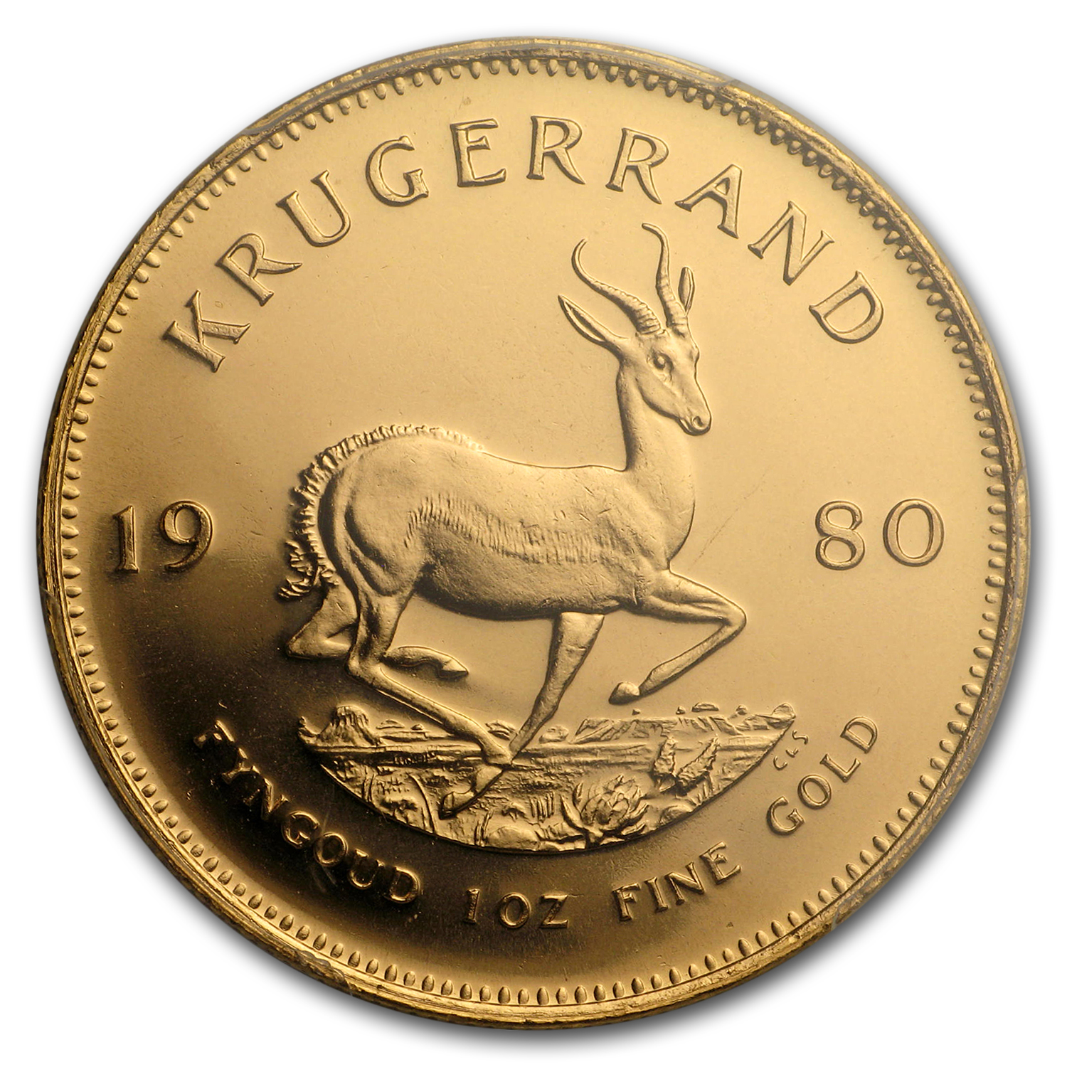 1980 South Africa 1 oz Gold Krugerrand MS-68 PCGS