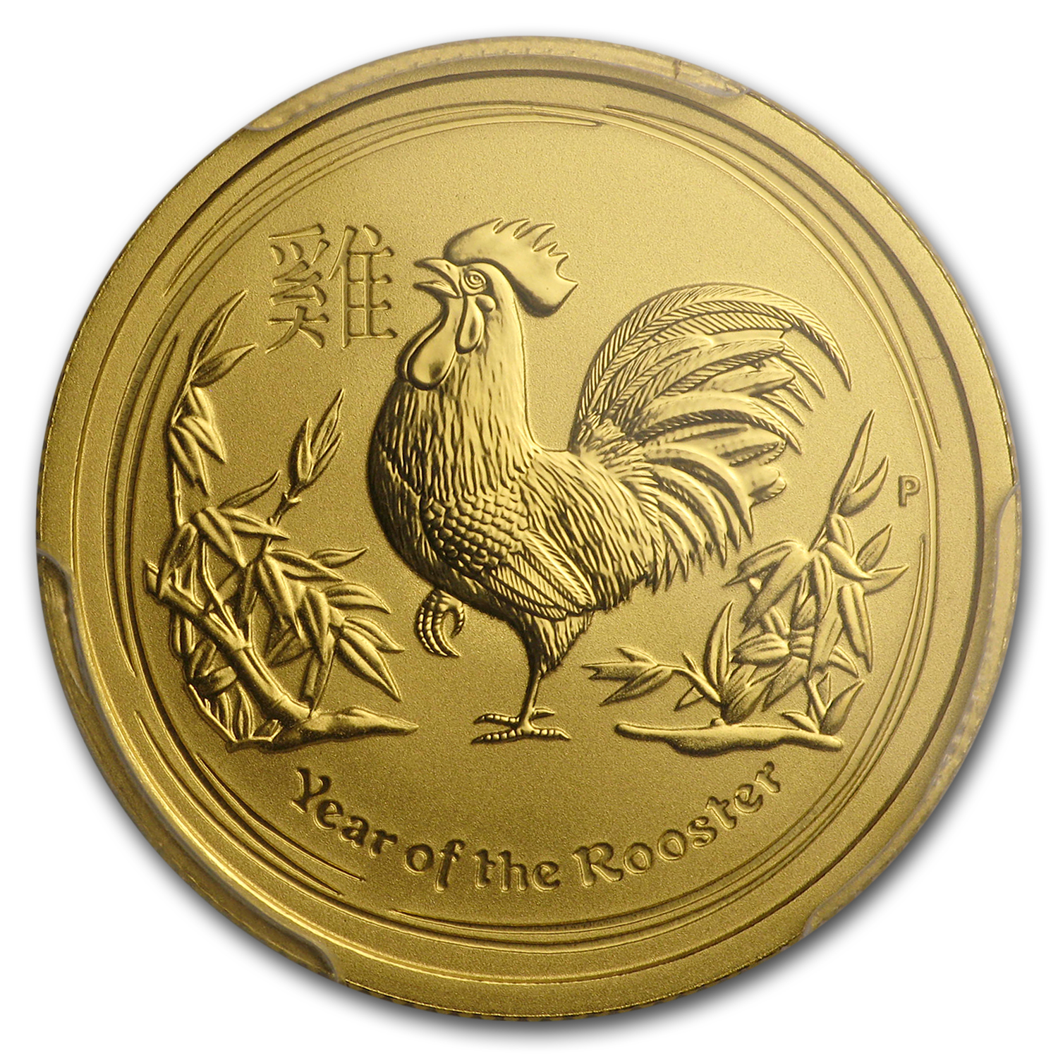 2017 AUS 1/4 oz Gold Lunar Rooster MS-70 PCGS (FS, Red Label)