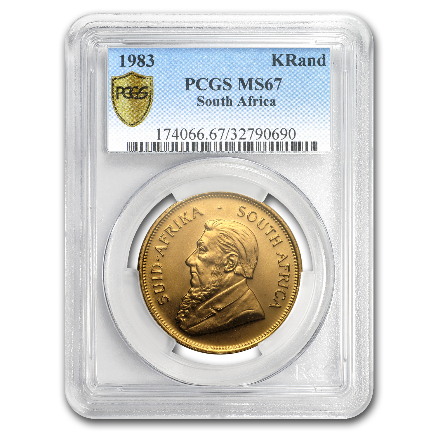 1983 South Africa 1 oz Gold Krugerrand MS-67 PCGS