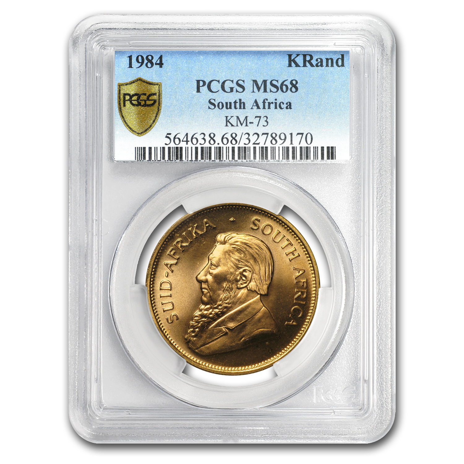 1984 South Africa 1 oz Gold Krugerrand MS-68 PCGS