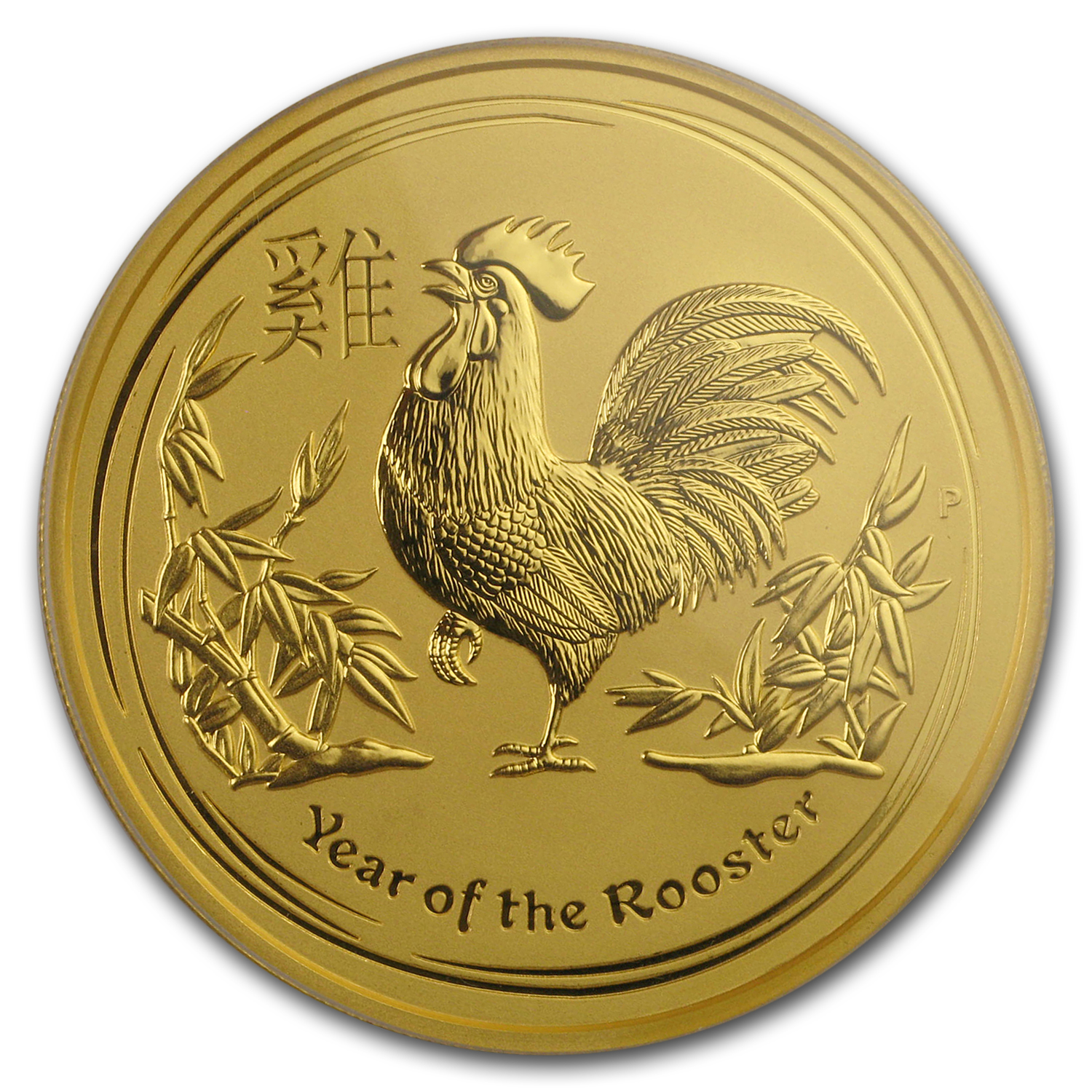 2017 AUS 2 oz Gold Lunar Rooster MS-70 PCGS (FS, Red Label)