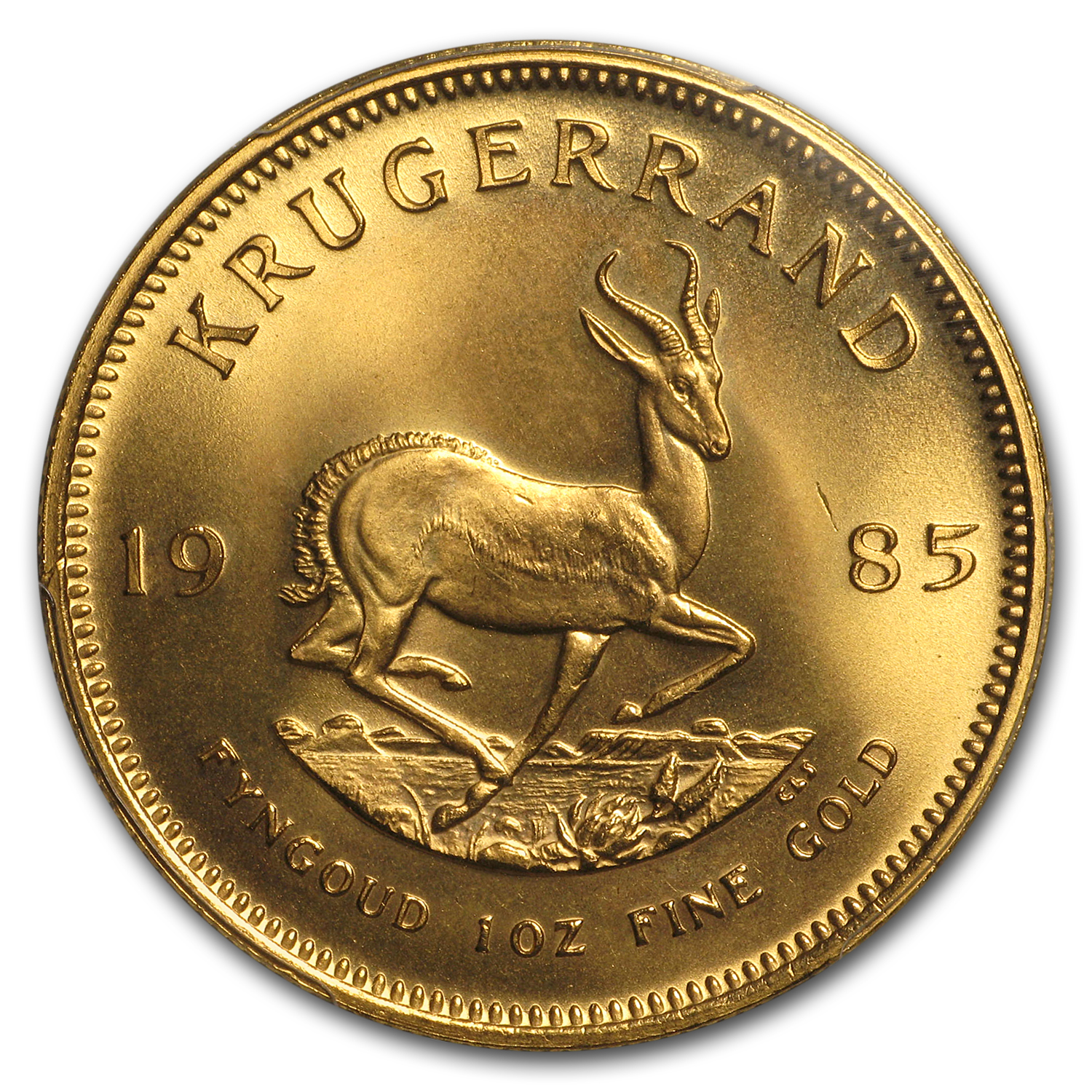 1985 South Africa 1 oz Gold Krugerrand MS-67 PCGS