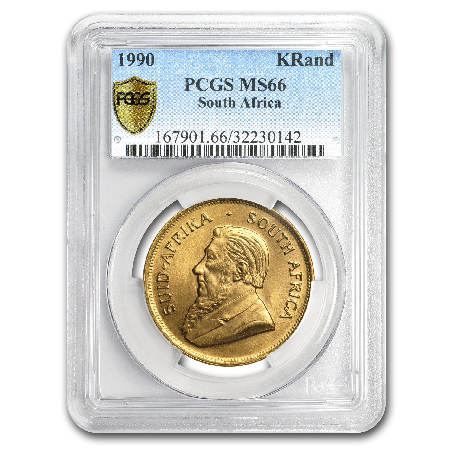 1990 South Africa 1 oz Gold Krugerrand MS-66 PCGS