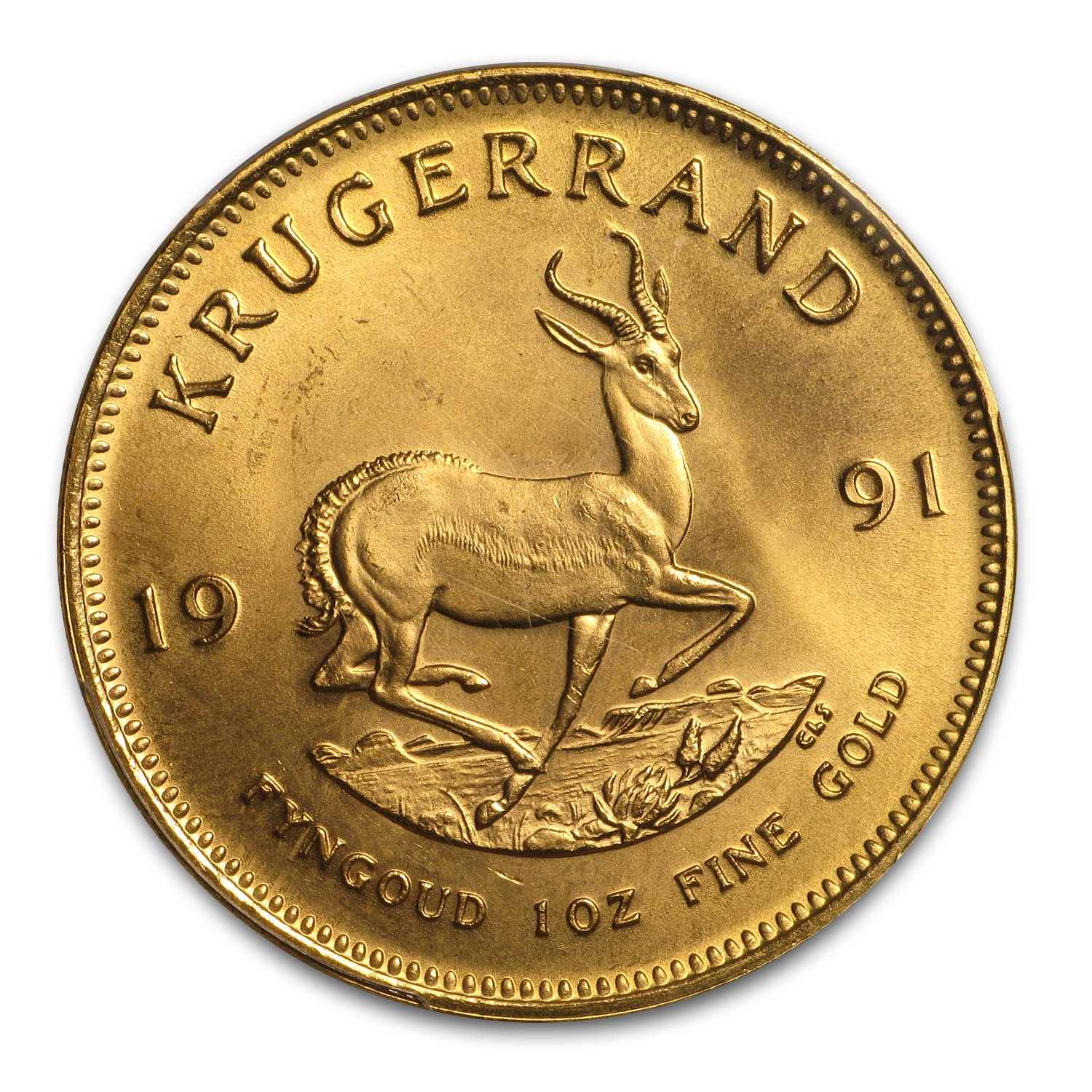 1991 South Africa 1 oz Gold Krugerrand MS-67 PCGS