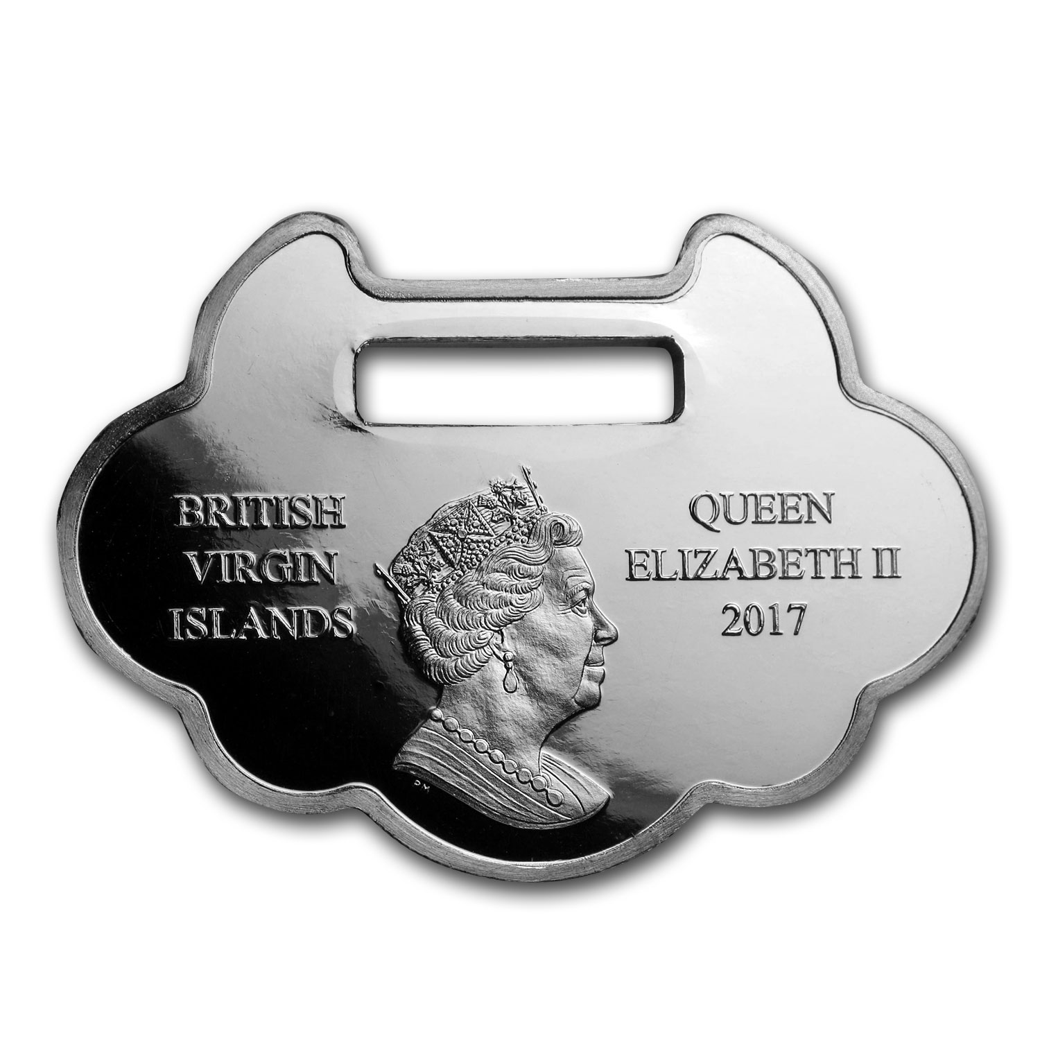 2017 British Virgin Islands 1 oz Silver Year of the Rooster Proof