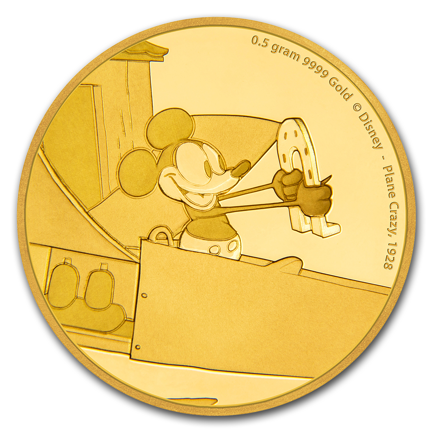 2016 1/2 gram Gold $2.50 Mickey Through the Ages: Plane Crazy