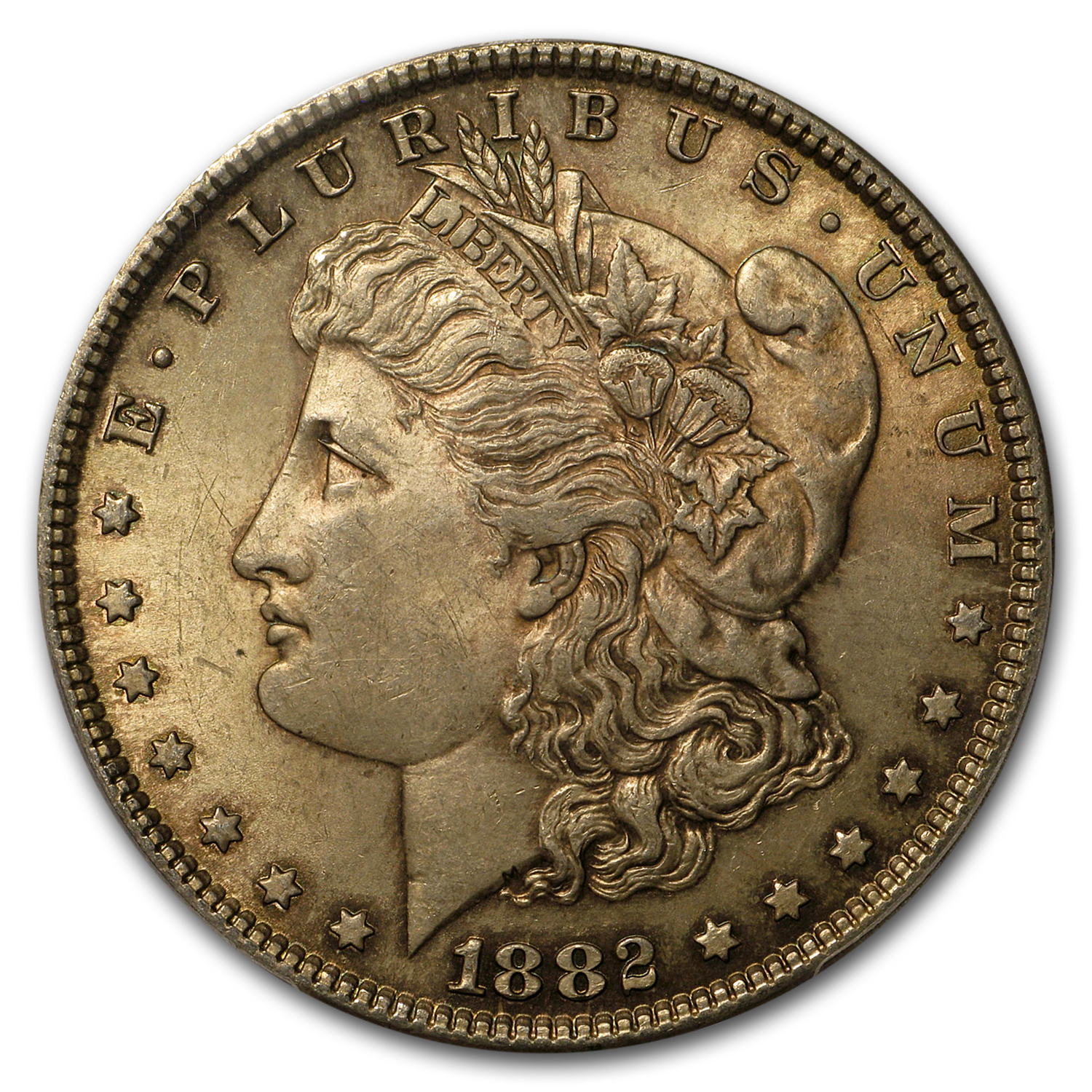 1878-1904 Stage Coach Morgan Dollar BU PCGS (Toned, Random)