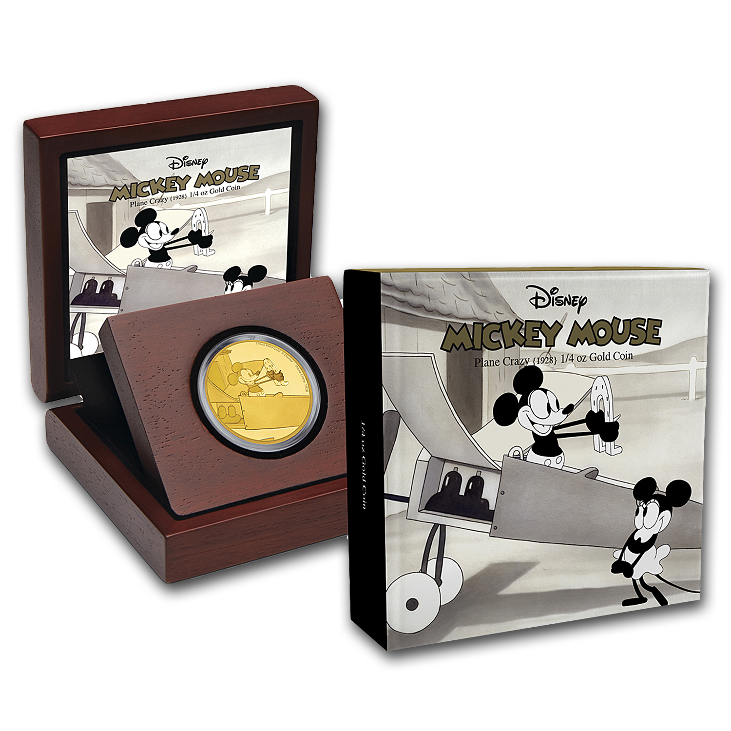 2016 1/4 oz Gold $25 Mickey Through the Ages: Plane Crazy