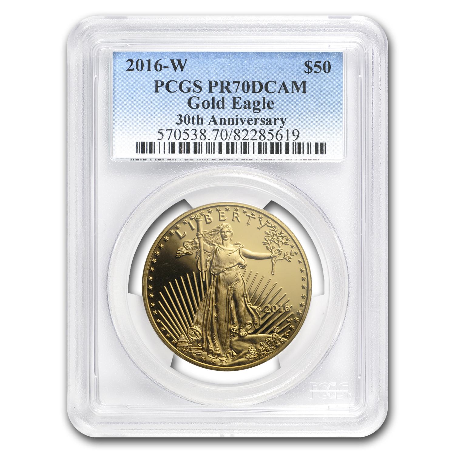 2016-W 1 oz Proof Gold American Eagle PR-70 PCGS