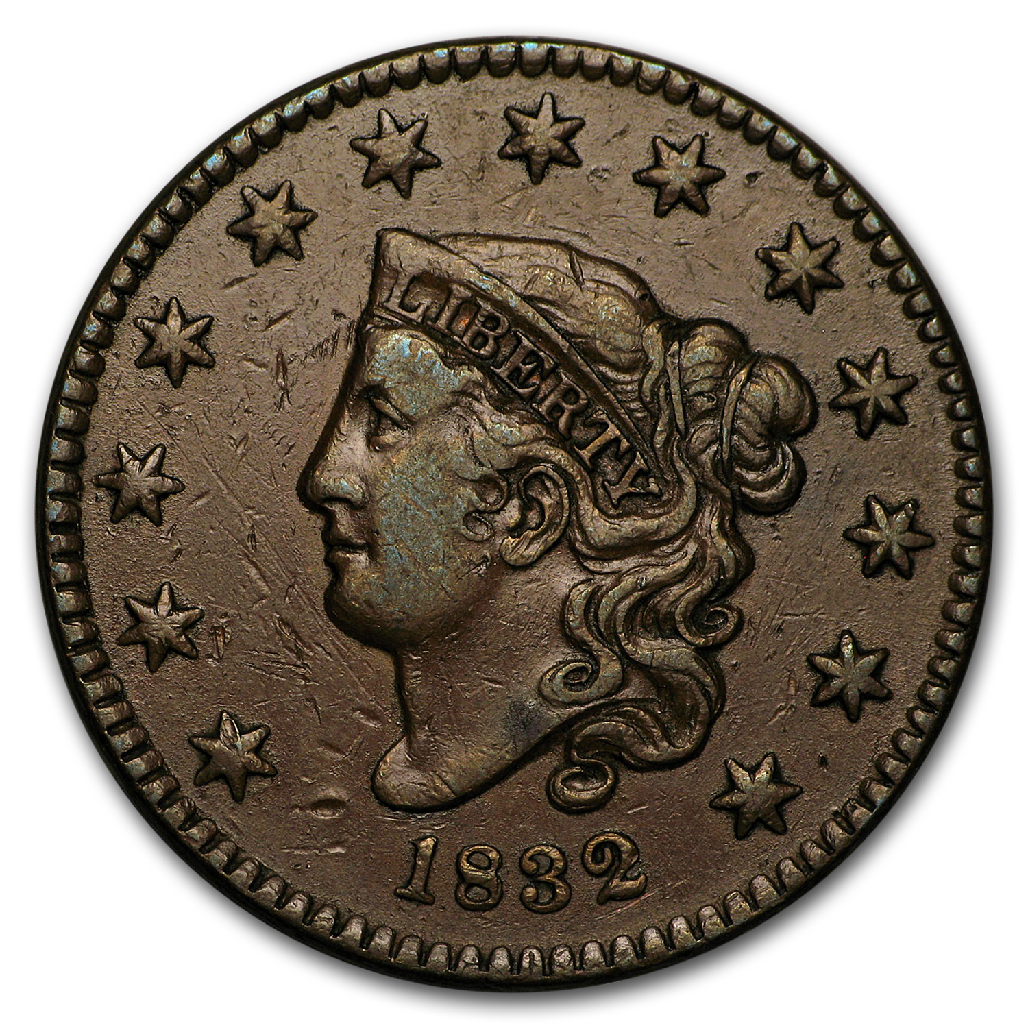 1832 Large Cent XF