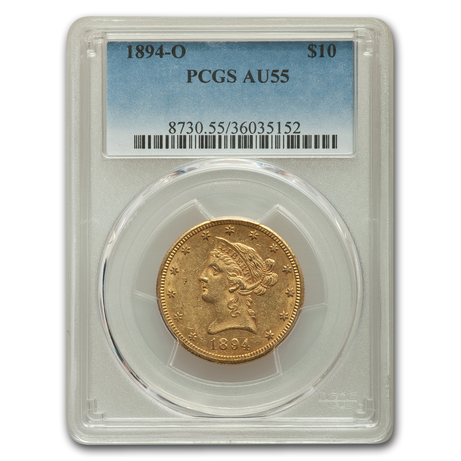 1894-O $10 Liberty Gold Eagle AU-55 PCGS