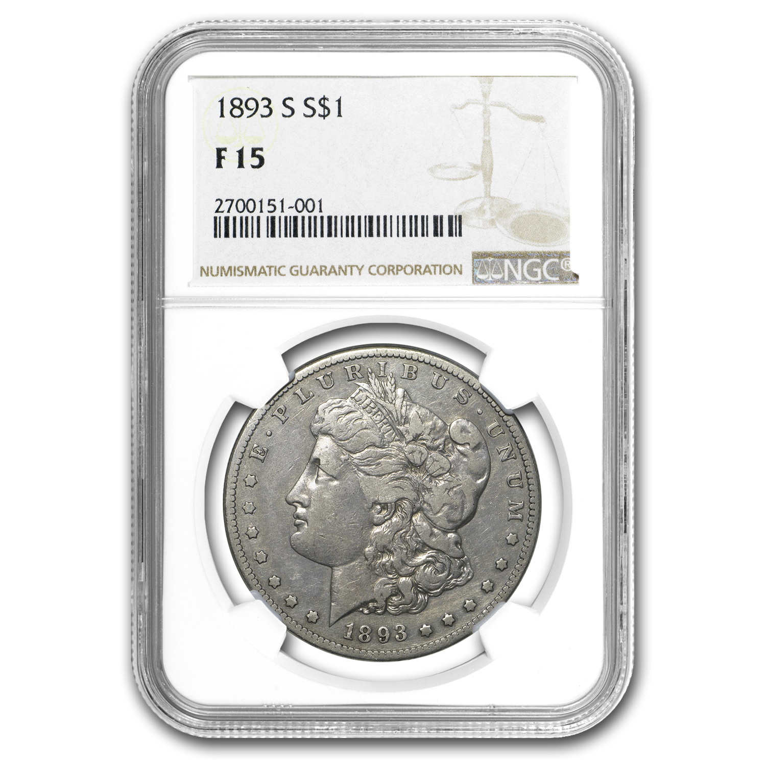 1893-S Morgan Dollar Fine-15 NGC (Key Date)