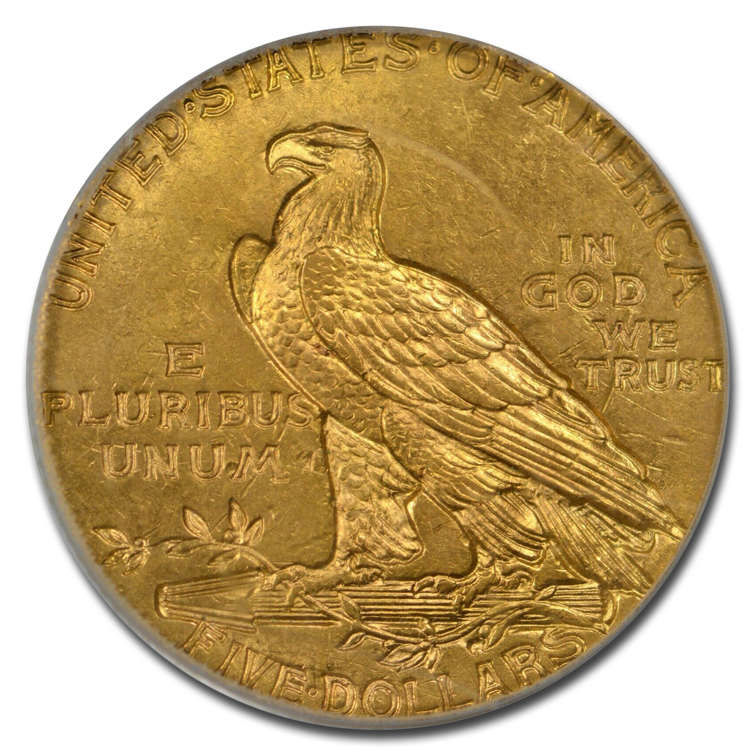 1912 $5 Indian Gold Half Eagle MS-64 PCGS