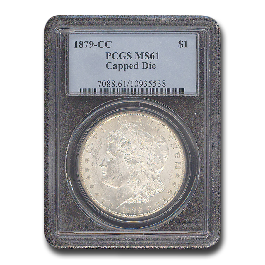 1879-CC Morgan Dollar MS-61 PCGS (Capped CC)