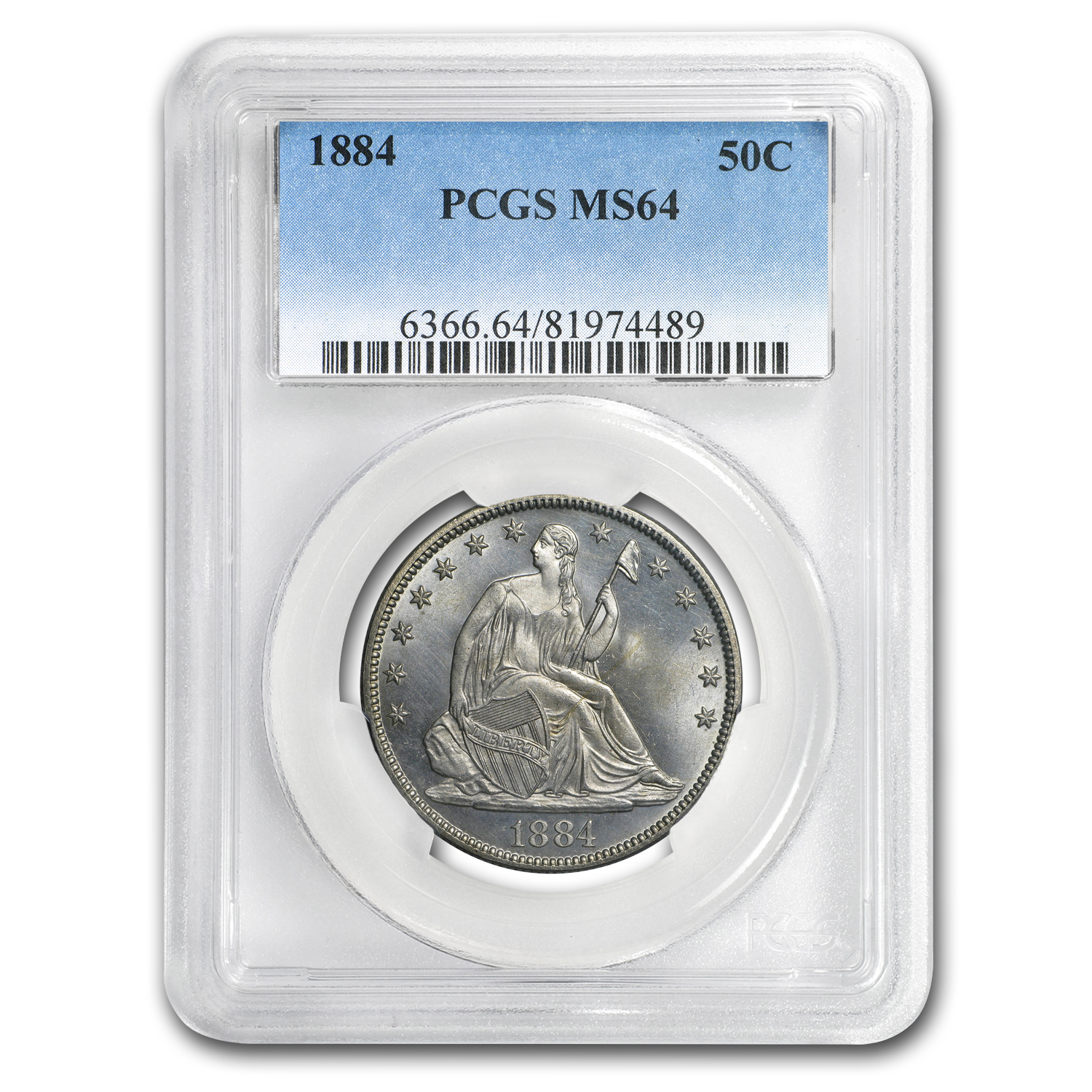 1884 Liberty Seated Half Dollar MS-64 PCGS