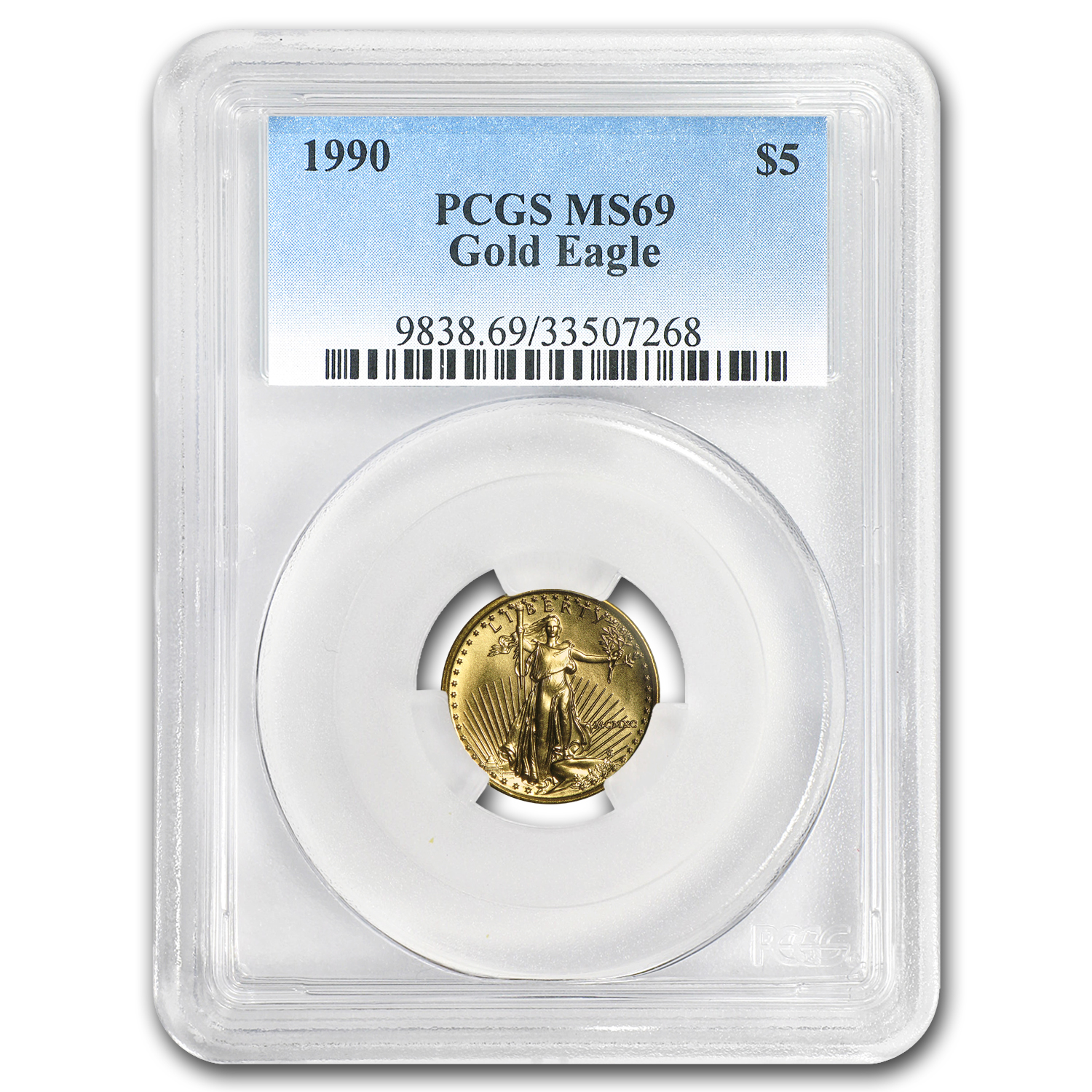 1990 1/10 oz Gold American Eagle MS-69 PCGS