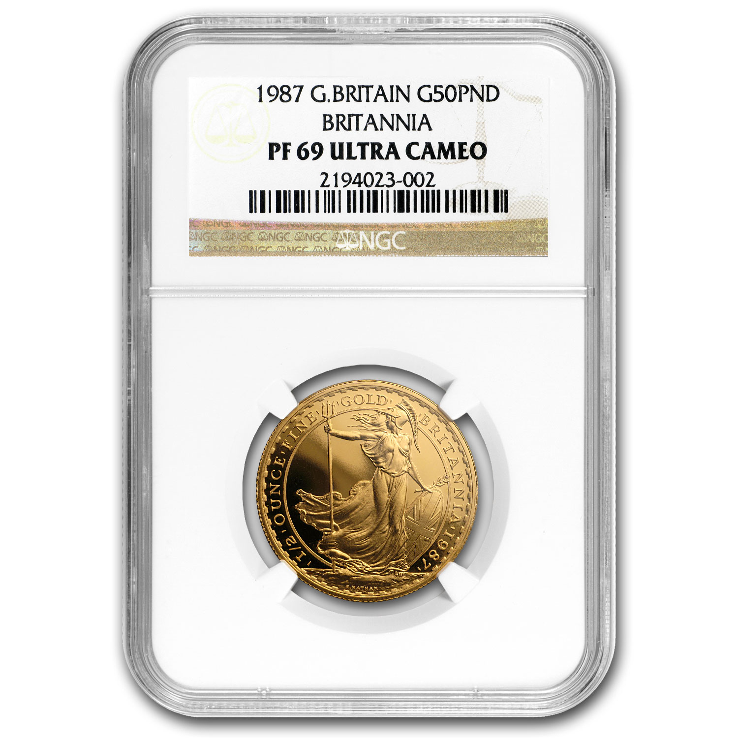 1987 4-Coin Gold Britannia Proof Set PF-69 NGC