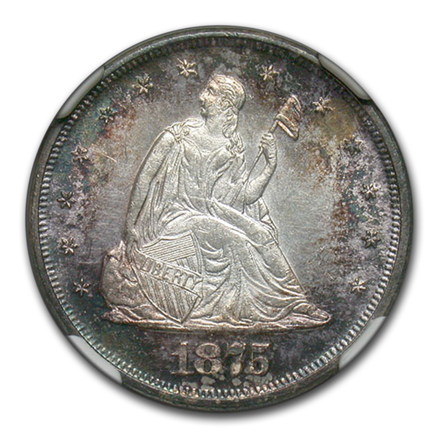 1875 Twenty Cent Piece MS-62 NGC