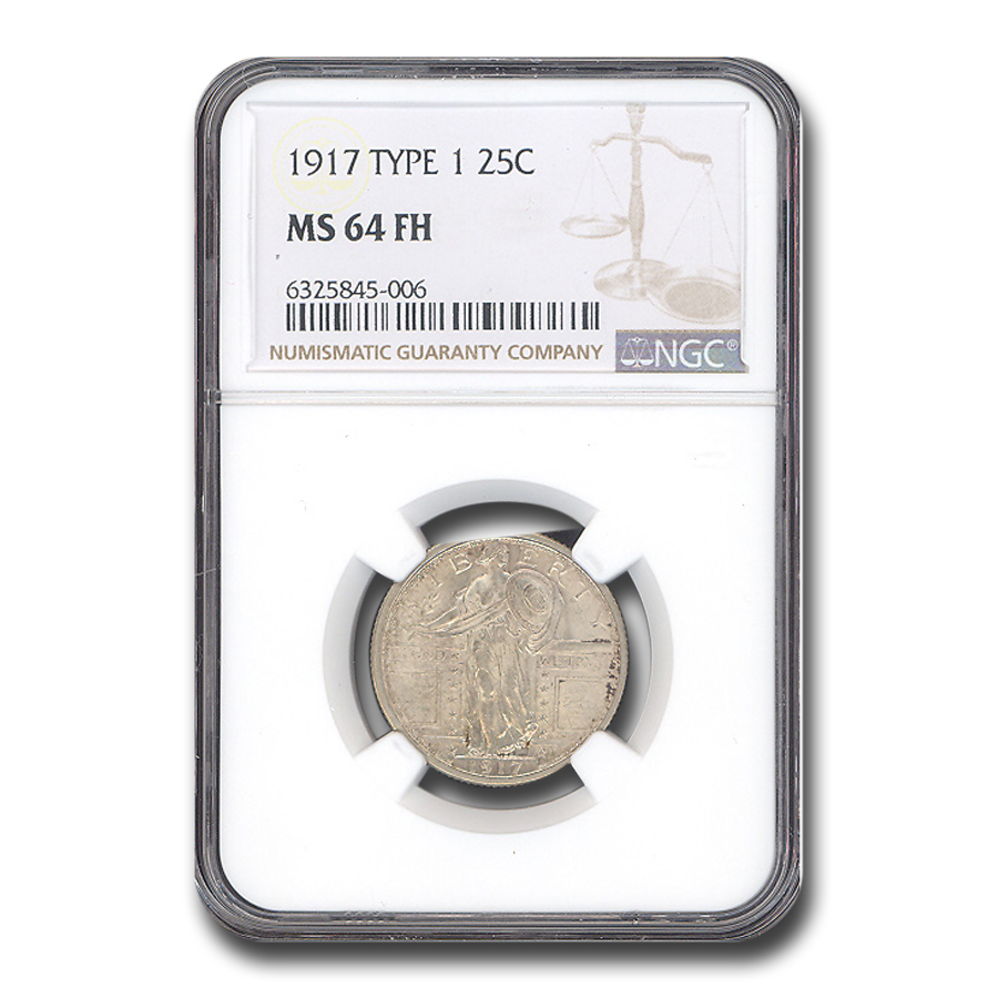 1917 Standing Liberty Quarter Type-I MS-64 NGC (Full Head)