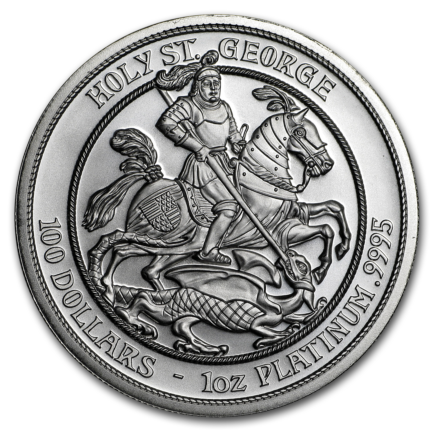 2015 Cook Islands 1 oz Platinum Holy St. George