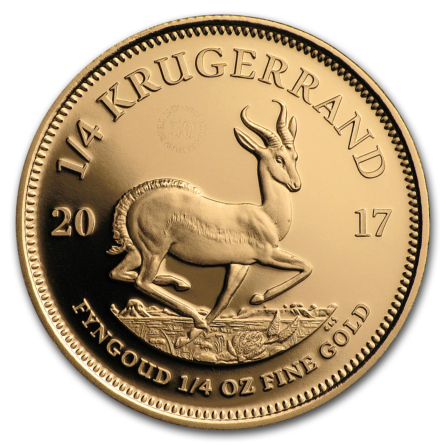 2017 South Africa 1/4 oz Proof Gold Krugerrand