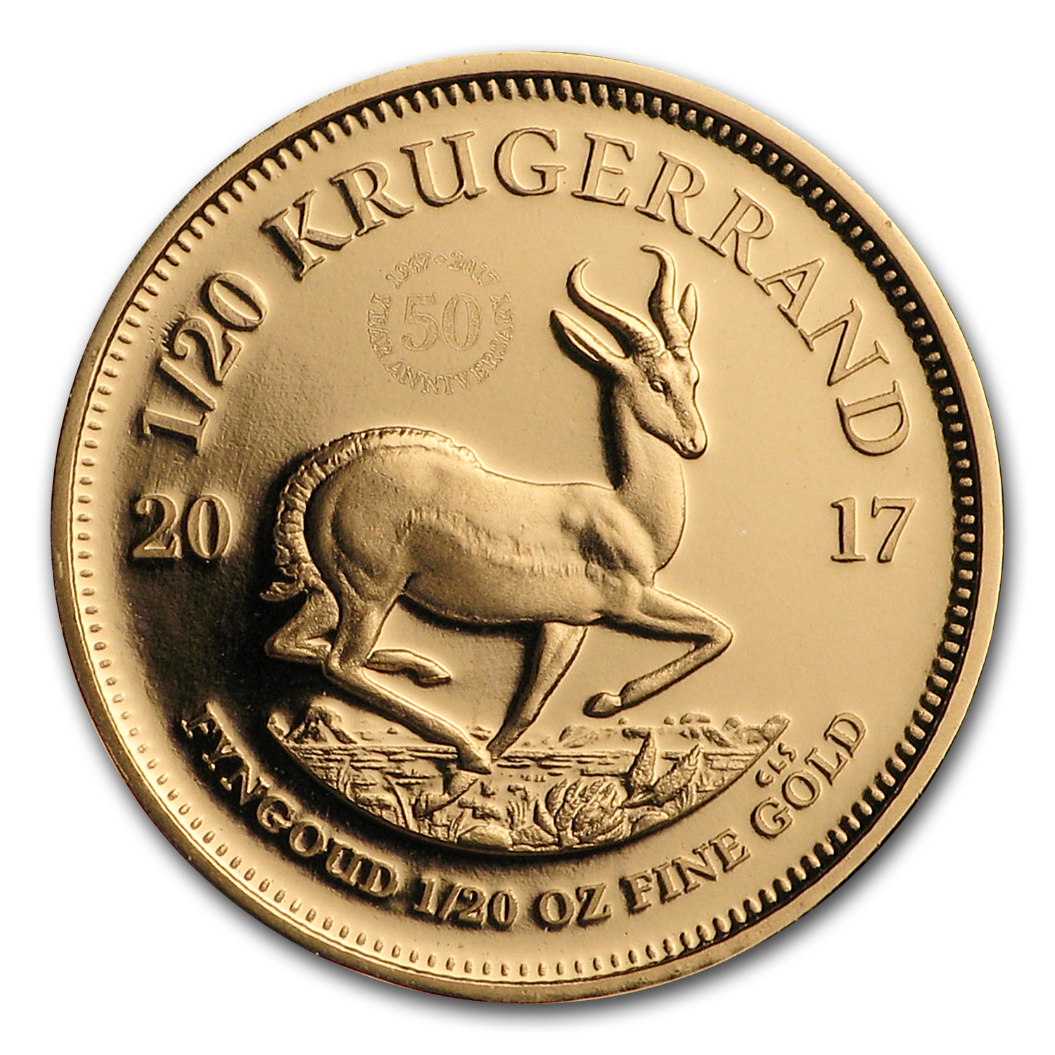 2017 South Africa 1/20 oz Proof Gold Krugerrand