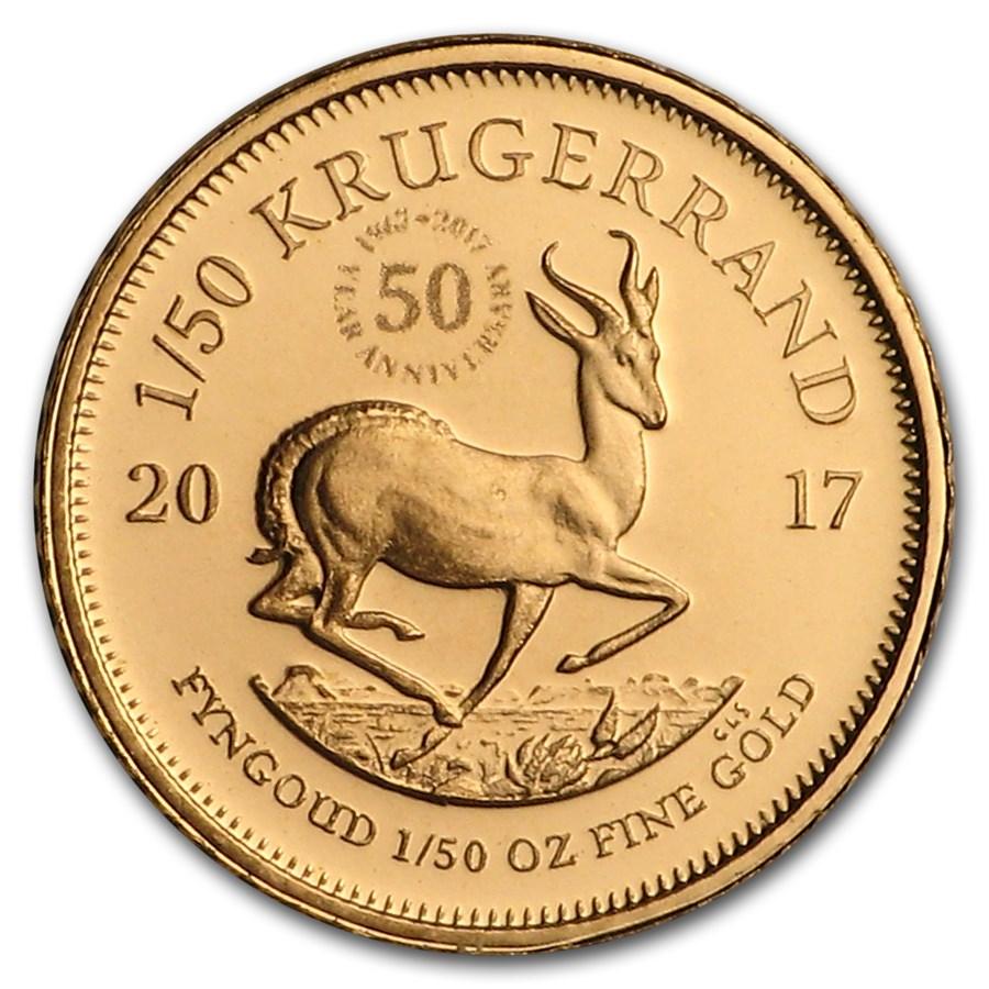 Buy 2017 South Africa 1 50 Oz Proof Gold Krugerrand Online