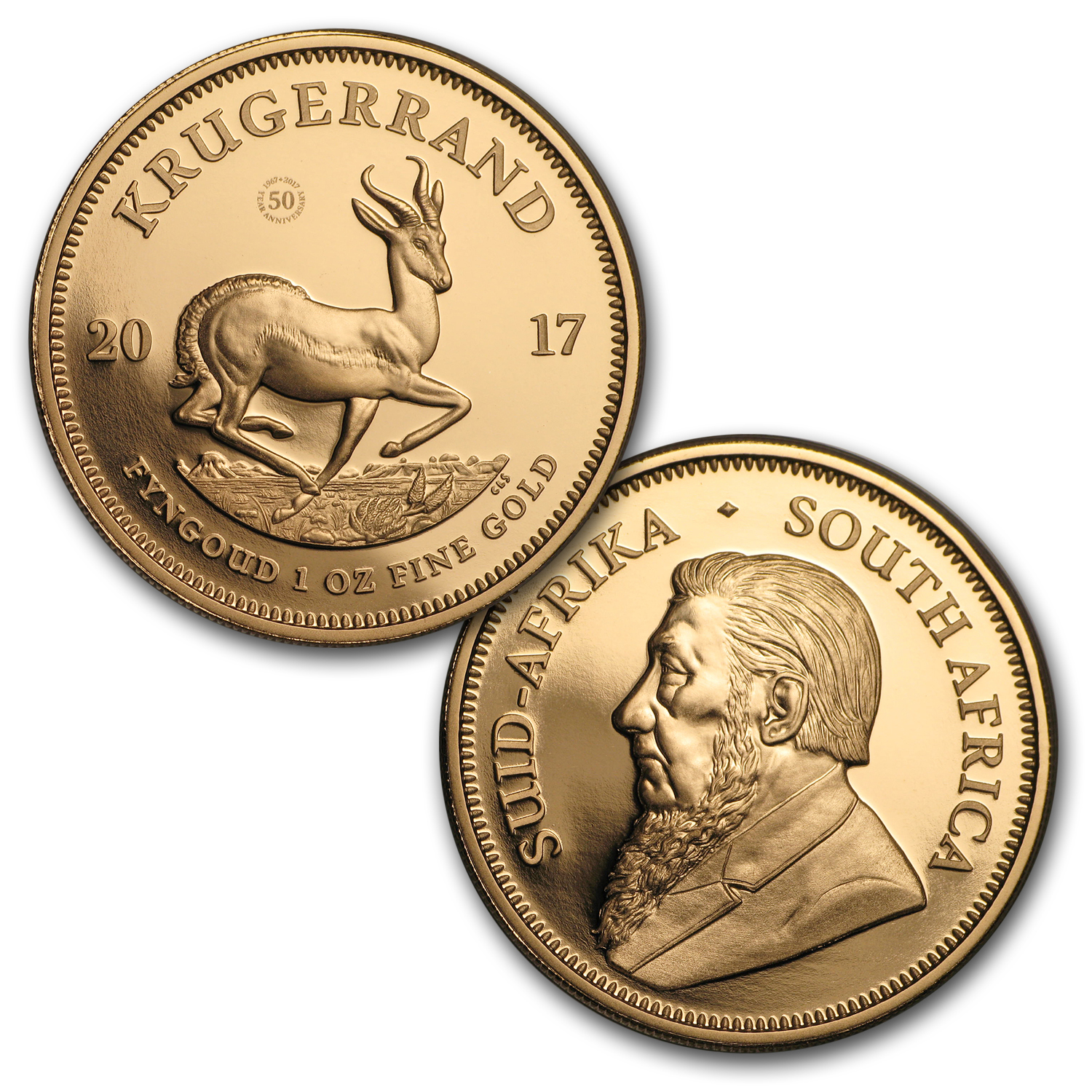 1967- 2017 South Africa 5-Coin Krugerrand 50th Anniv. Proof Set