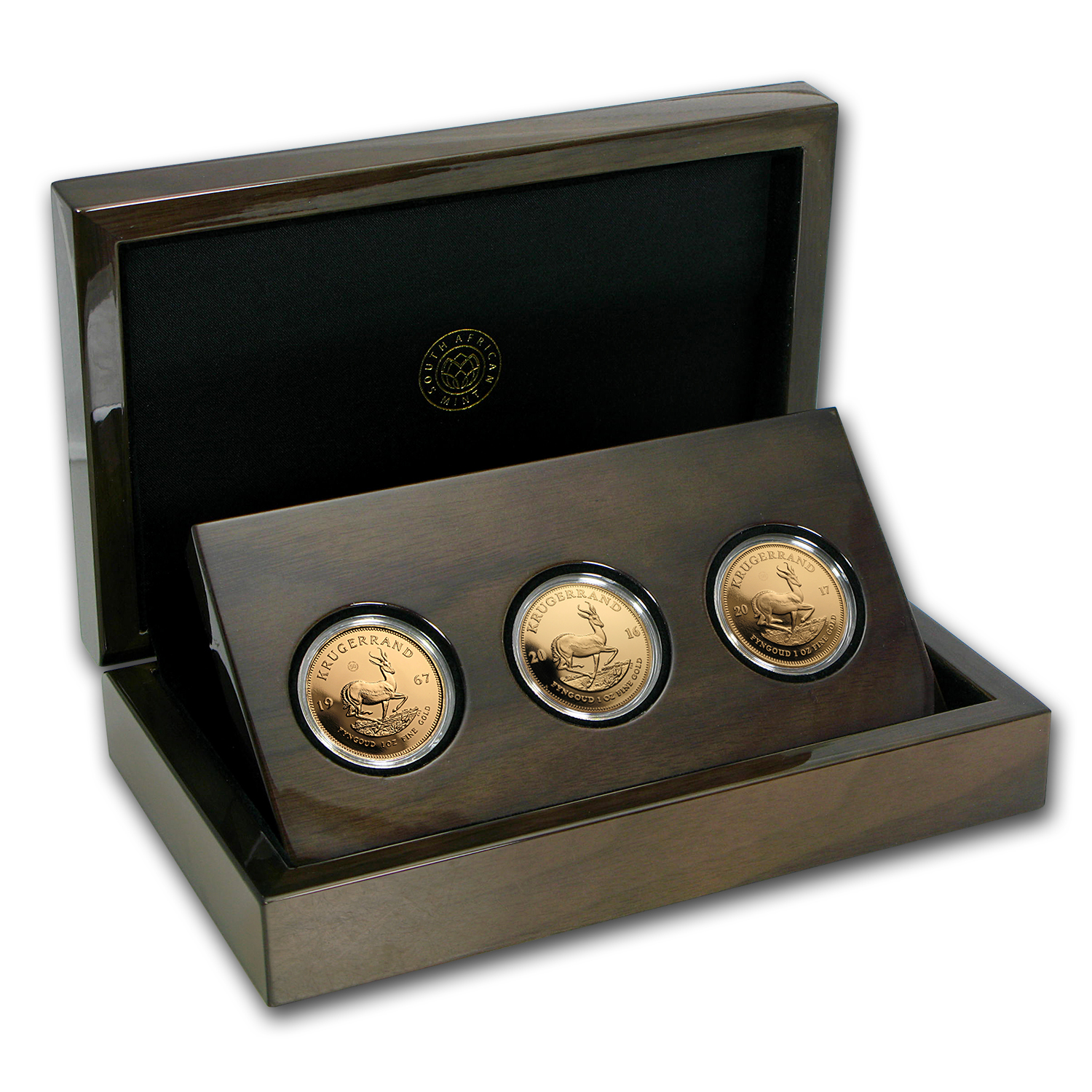 1967- 2017 South Africa 3-Coin Krugerrand 50th Anniv Proof Set