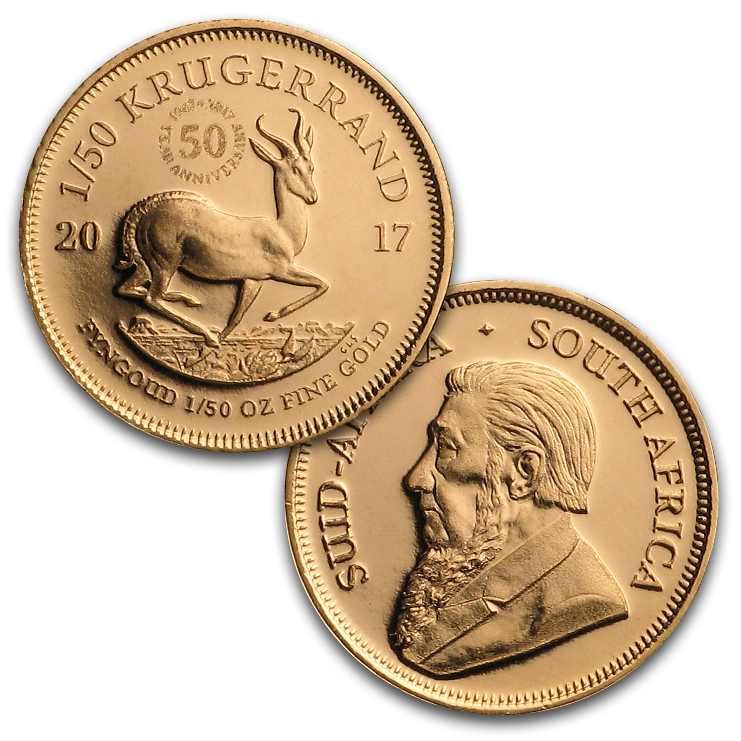 2017 South Africa 6-Coin Krugerrand 50th Anniversary Proof Set