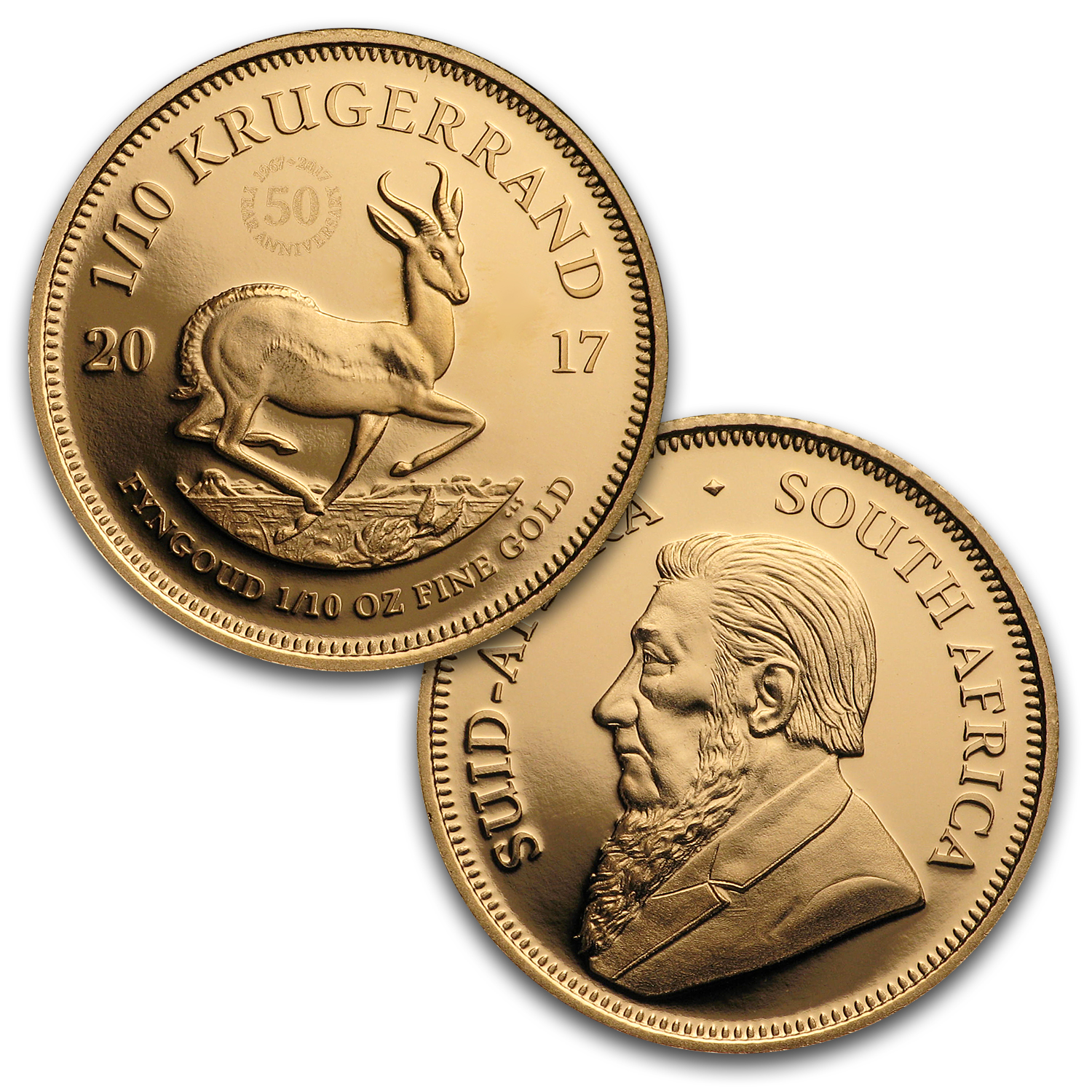 2017 South Africa 3-Coin Krugerrand 50th Anniversary Proof Set