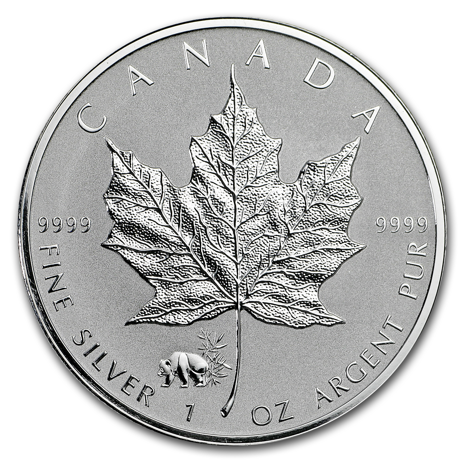 2017 Canada 1 oz Silver Maple Leaf Panda Privy BU