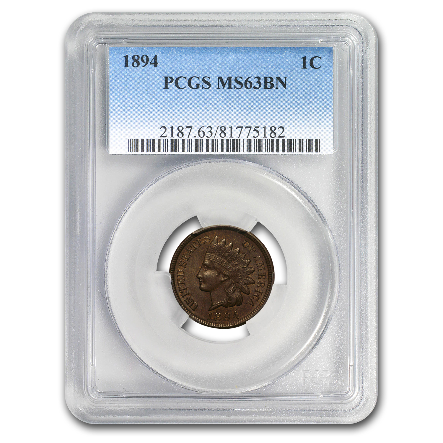 1894 Indian Head Cent MS-63 PCGS (Brown)