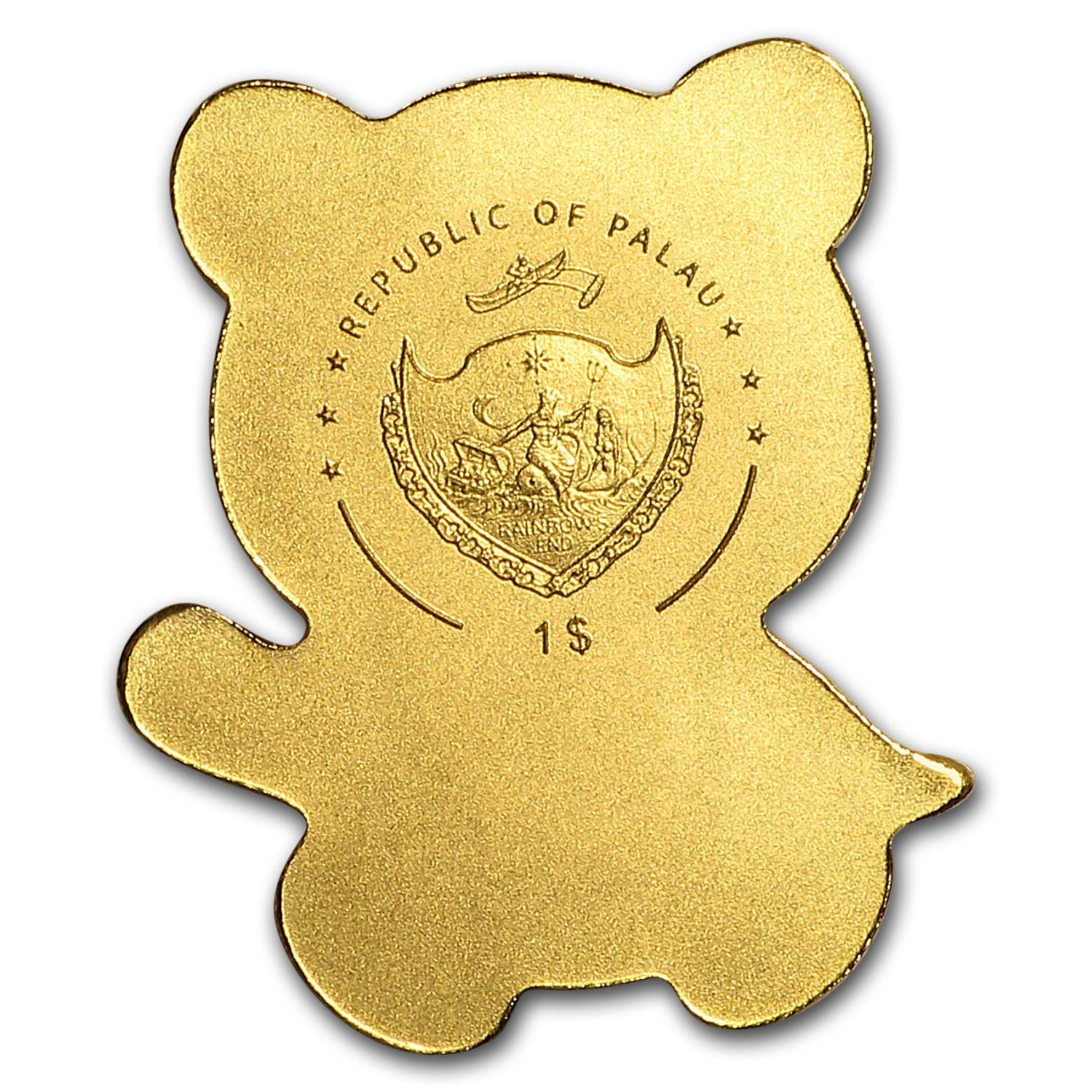 Palau 1/2 gram Gold $1 Little Panda Coin