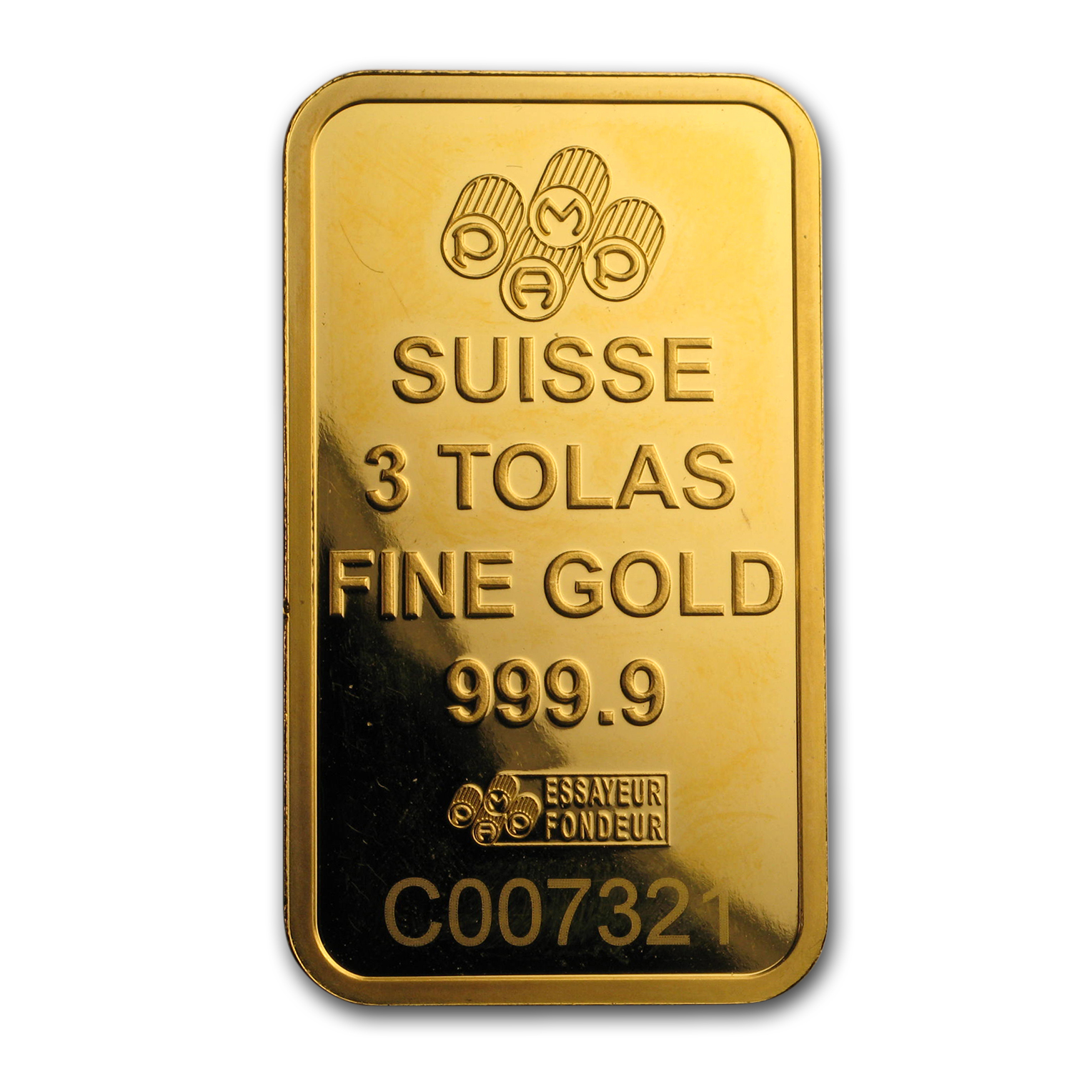 3 Tolas Gold Bar - Secondary Market (1.125 oz)