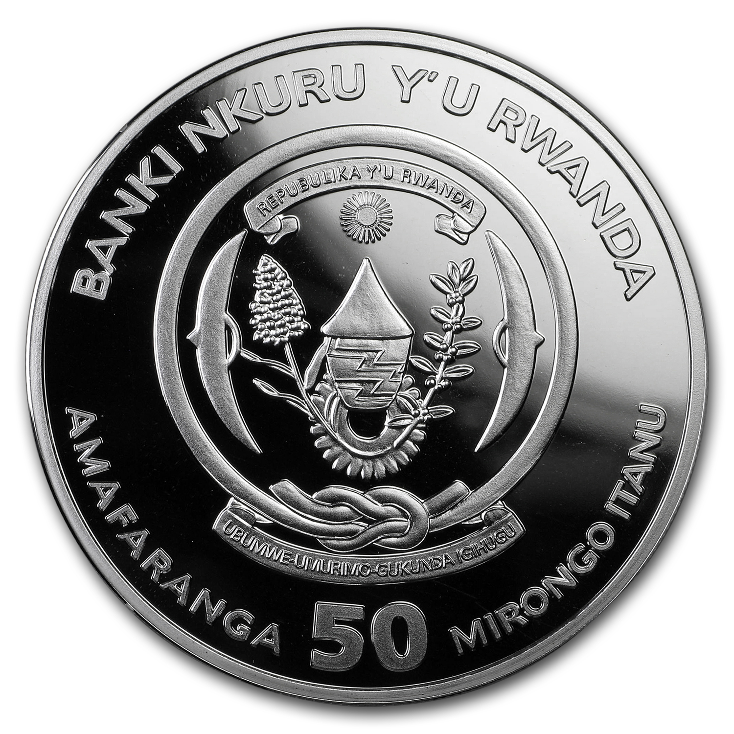 2017 Rwanda 1 oz Silver Lunar Year of the Rooster Proof