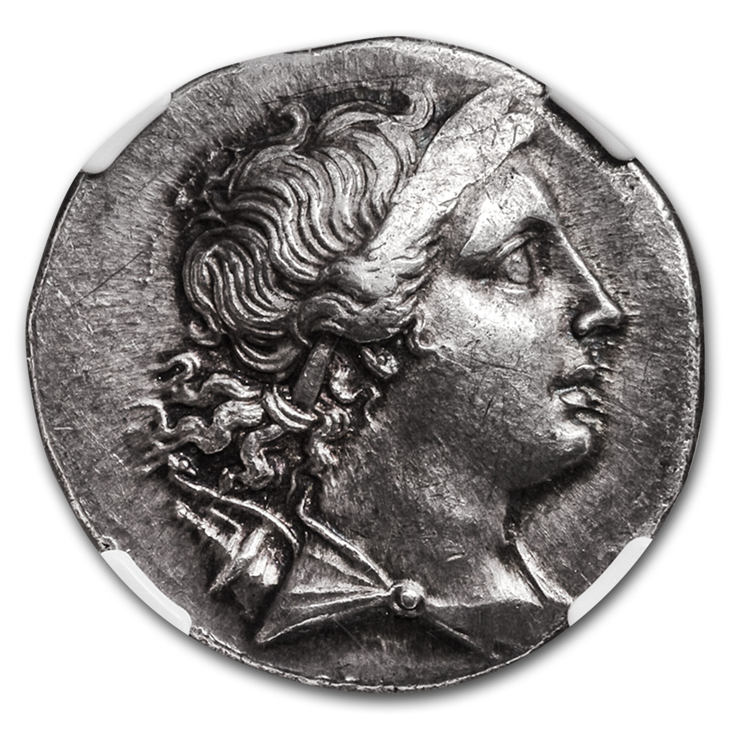 Ionian Silver Tetradrachm Magnesia Artemis (2nd Cent. BC) AU NGC