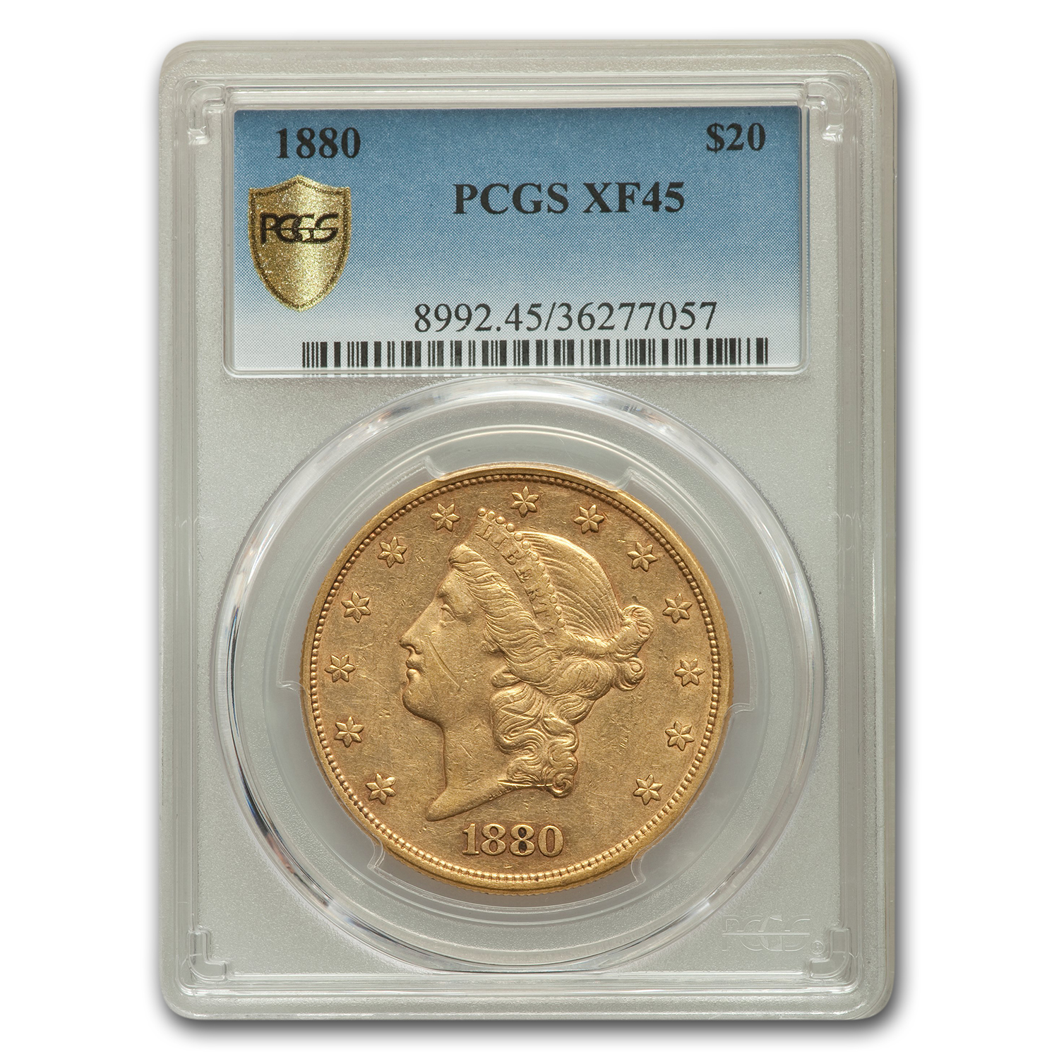 1880 $20 Liberty Gold Double Eagle XF-45 PCGS