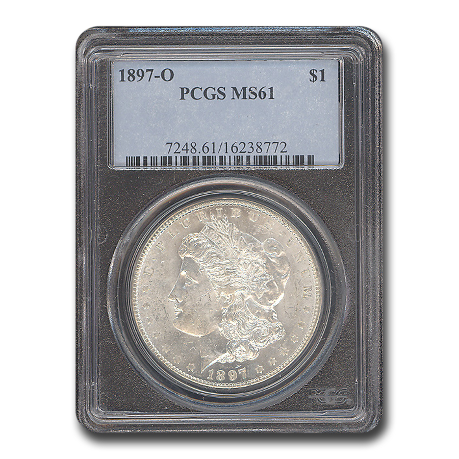 1897-O Morgan Dollar MS-61 PCGS