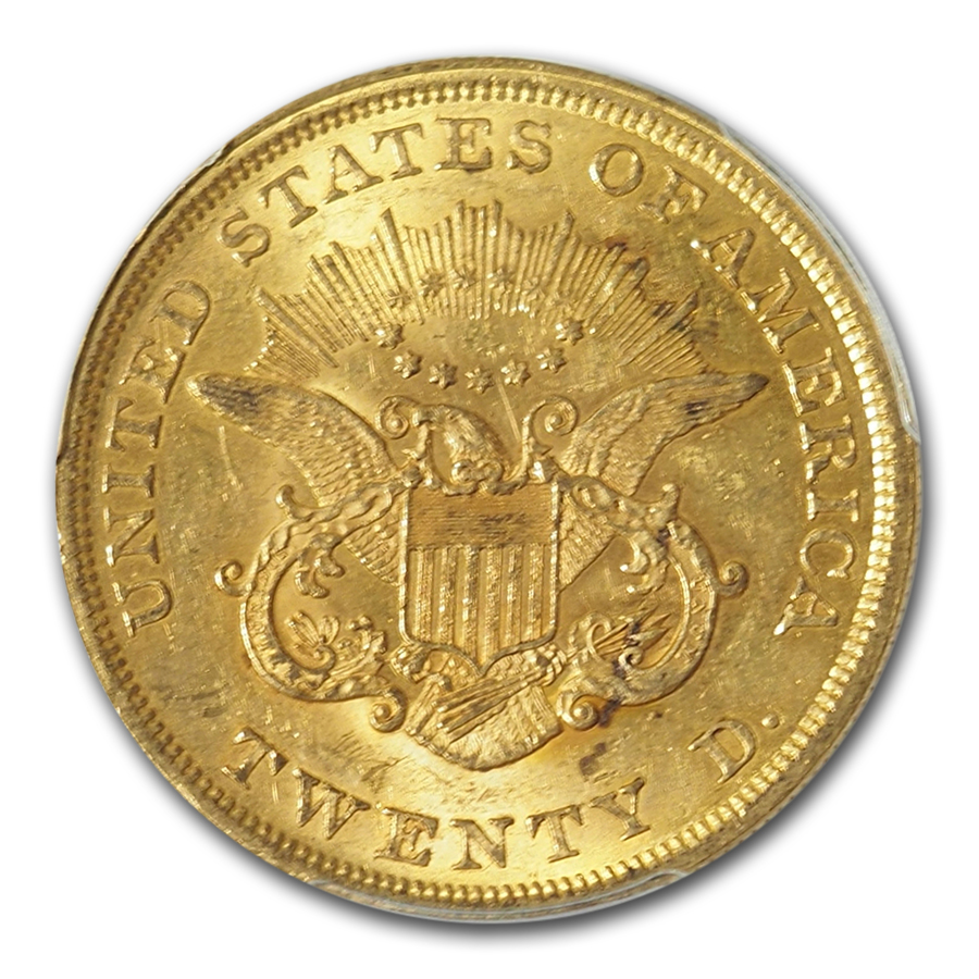 1851 $20 Liberty Gold Double Eagle MS-61 PCGS