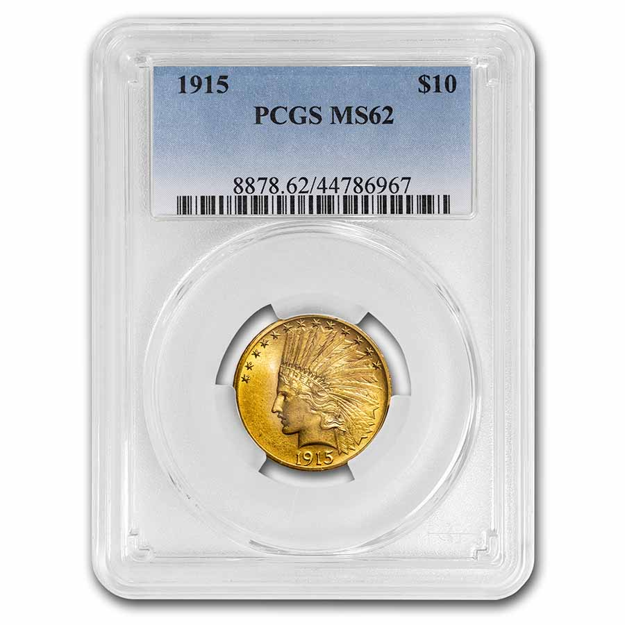 1915 $10 Indian Gold Eagle MS-62 PCGS