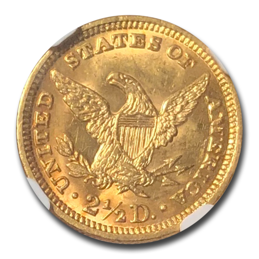 1888 $2.50 Liberty Gold Quarter Eagle MS-63 NGC