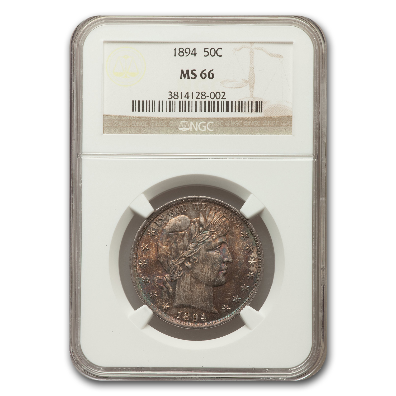 1894 Barber Half Dollar MS-66 NGC