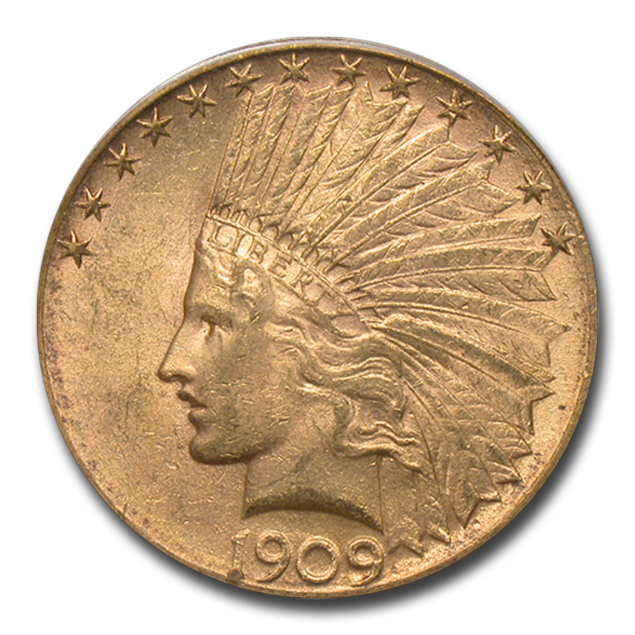 1909-S $10 Indian Gold Eagle MS-62 PCGS