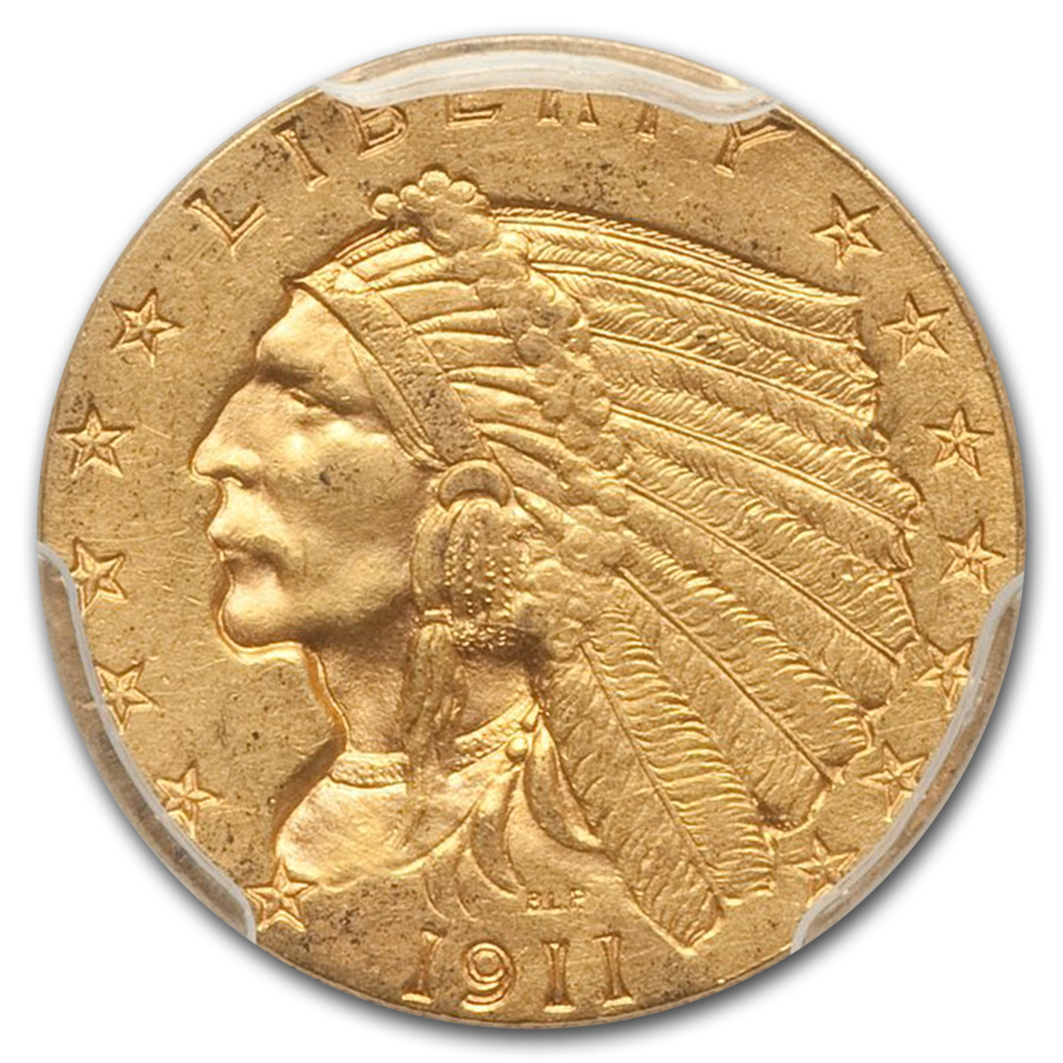 1911-D $2.50 Indian Gold Quarter Eagle MS-61 PCGS