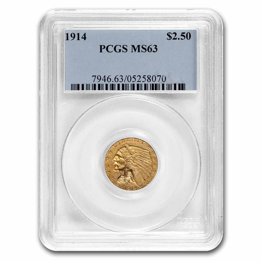 1914 $2.50 Indian Quarter Eagle MS-63 PCGS
