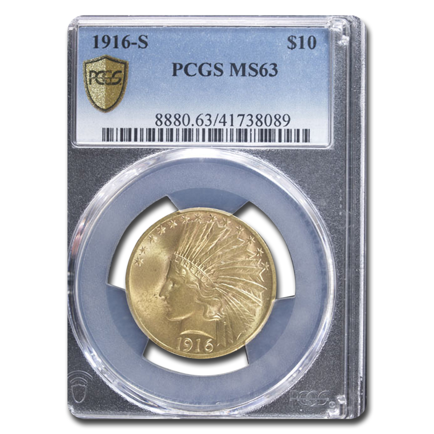 1916 $10 Indian Eagle MS-63 PCGS