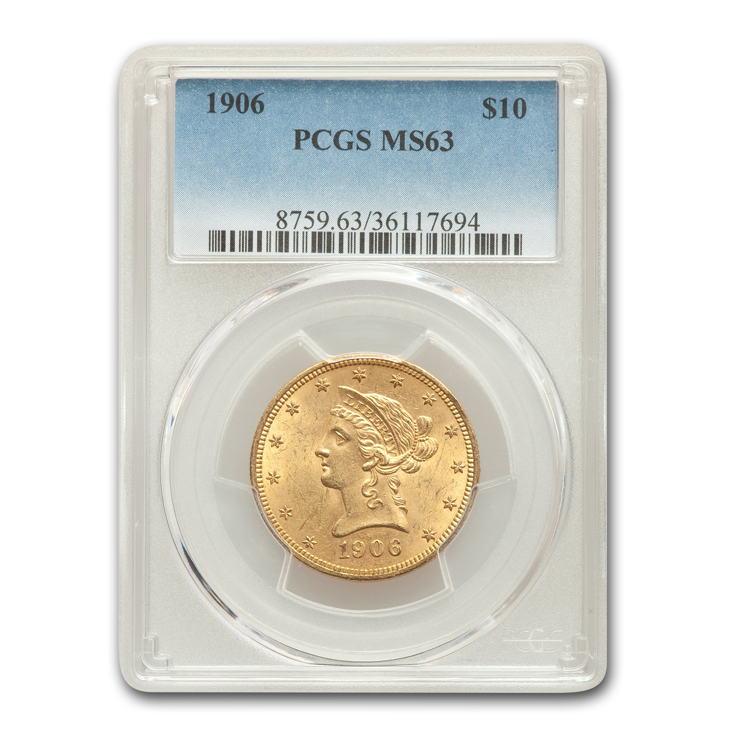 1906 $10 Liberty Eagle MS-63 PCGS