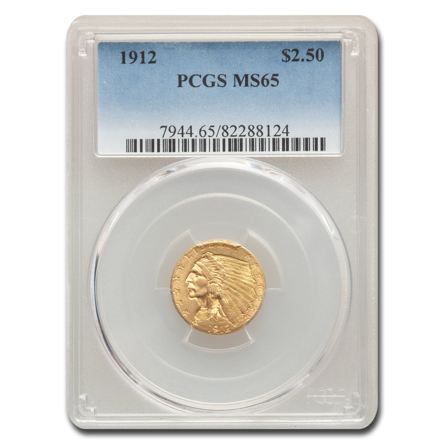 1912 $2.50 Indian Gold Quarter Eagle MS-65 PCGS