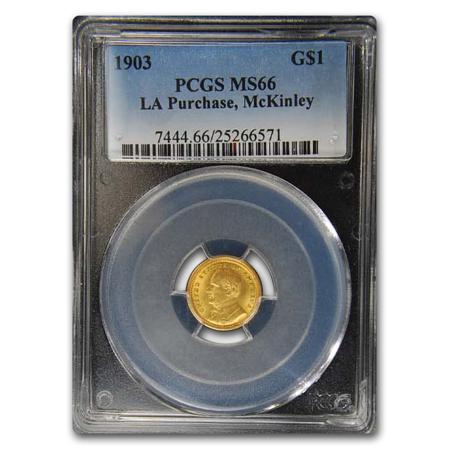 1903 Gold $1 Louisiana Purchase McKinley MS-66 PCGS
